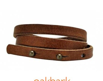 Triple Wrap Leather Bracelet by Equine Organix