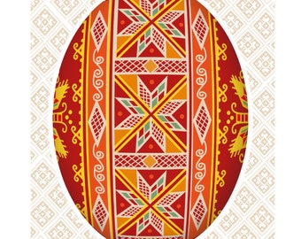 Pysanka design card