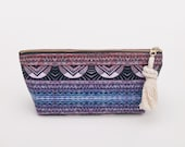 Pink Purple Zipper Pouch Travel Toiletry Bag Pencil Case SURF EVENING