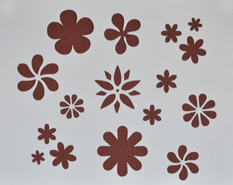 Flower Power  Stencil Template Scrapbooking Art Card Making