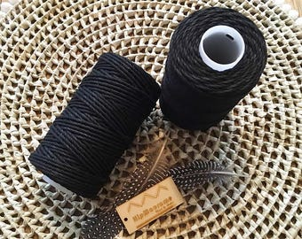 Black struck 3mm Rope