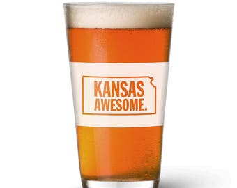 Kansas Awesome Pint Glass