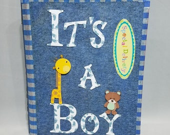 Baby boy photo album 4x6, Custom photo album 4x6, Photo album with sleeves, Baby boy shower gifts, Baby 1st birthday album, Gift under 50