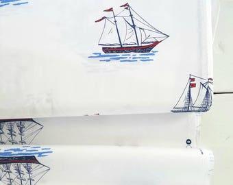 The Best of Sarah Jane - My Favorite Ship (White Background/Navy) - Sarah Jane - Michael Miller Fabrics