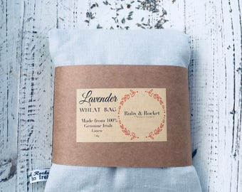 Heat Cold Pack Irish Linen Organic Lavender Wheat Pack Heat Cold Bag Microwaveable Washable Heating Pad Grey