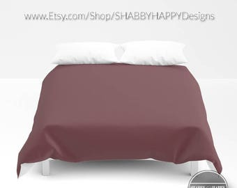 Solid Color MAUVE Choice of Duvet Cover or Comforter  Bedding Minimalist Modern Basic Art / Sizes Twin, XL Twin, Full, Queen, & King