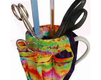 Mug Bucket Organizer PDF Pattern | Recycled Cup Pattern | Cup Caddy Pattern