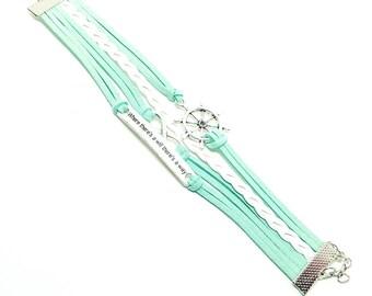 Infinity Inspirational Rope Bracelet