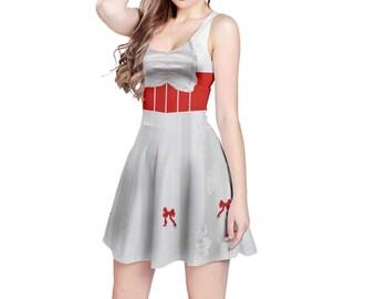 Mary Poppins Inspired Sleeveless Dress