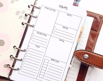 "Digital Personal Size Organizational ""Today"" Insert"