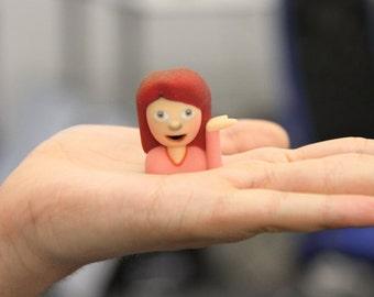 Sassy Girl Emoji Figurine
