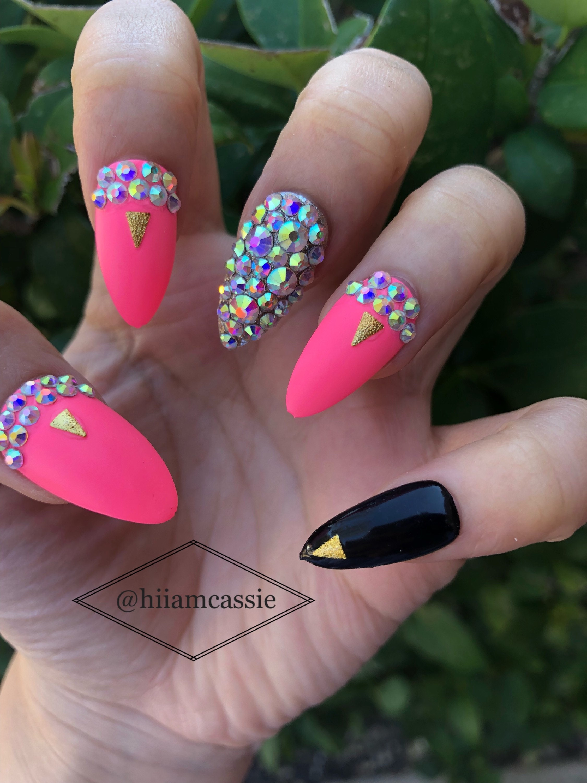 Pink Cosmo | Press on nails | Fake nails | Cute nails | Glue on ...