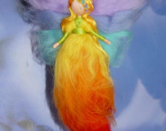 The colors of the Rainbow wool fairy