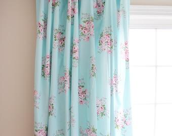 shabby chic curtains etsy rh etsy com shabby chic curtains blue white curtains shabby chic
