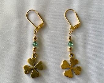 The Golden Four Leaf Clover Earrings