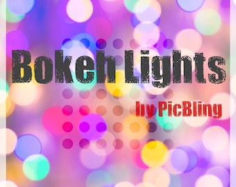 Bokeh Lights Overlays - Color - Instand Download