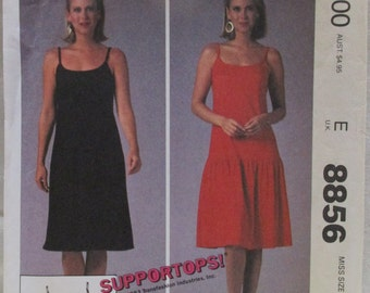 McCalls Sewing Pattern 8856.  Size Small 10-12.  Misses Summer Dress. Stretch Knits.  Printed in 1983.  Uncut.