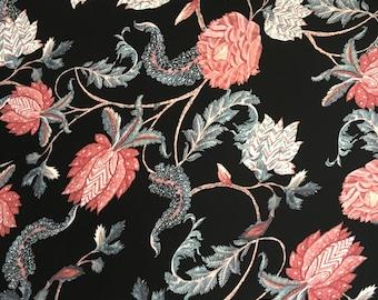 Floral Silk CDC Fabric, Silk Fabric by the Yard, Silk Yardage, Yardage, Silk Fabric