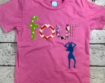 Dance party, dancer shirt, dance party shirt, little dancer, dance outfit, girls shirt, outfit for dance party, fun birthday shirt for girl