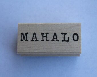 Mahalo - Small Type Mahalo rubber stamp*Thank you*