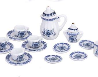 Porcelain Miniature Dishware Set