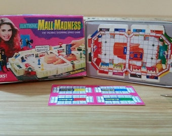TG-5  Miniature Mall Madness Game  Box opens  only    for Barbie, collectors, dollhouses  & diloramas NO removable parts