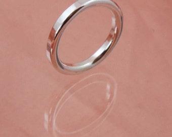 3mm Round Wire Textured Ring