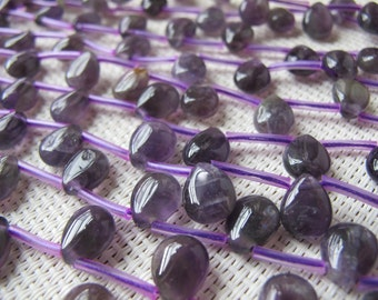 8x10mm Amethyst Flat Pear Bead S46