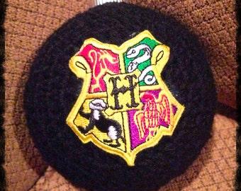 Hogwarts Christmas Ornament Crochet Christmas Ornament Harry Potter Christmas Crocheted Christmas Ornament Christmas Crochet Hogwarts Gift