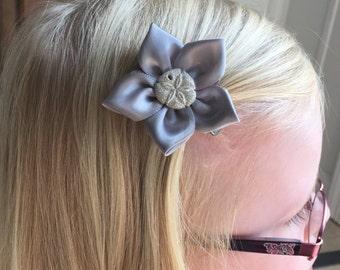 Sand Dollar Hair Clip/Hair Bow, Kanzashi, Clam Shell, Starfish, Seahorse, Spiral Shell, Conch Shell Also Avaiable