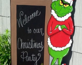 The Grinch Christmas Yard Art Sign