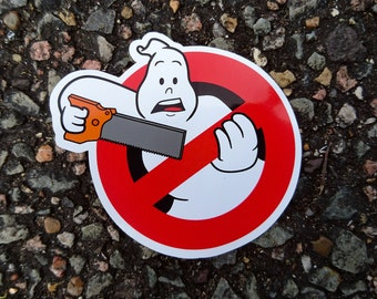 """Real Ghostbusters """"Sawing"""" Logo Vinyl Sticker"""