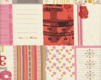 Moda Fabrics 2wenty Thr3e Collage in Cream - Half Yard