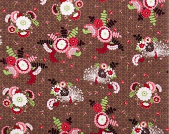 Bouquet Peacock Fabric YARD by Michael Miller