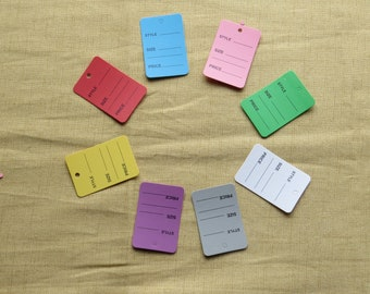 Assorted color tags