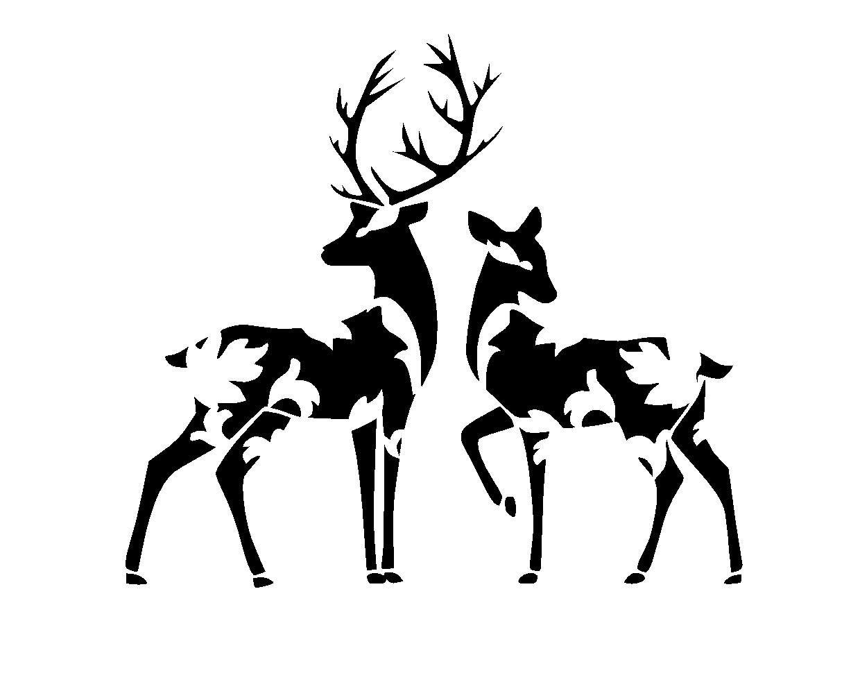 Hilaire image regarding deer stencil printable