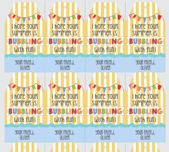 Instant download and editable summer break end of school instant download and editable summer break end of school year classmate gift tags negle Gallery