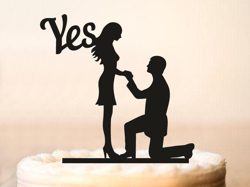 wedding proposal cake topperproposes cake topperwedding