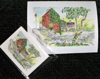 Special Savings:  Buy both and save Ten Dollars~Print and Note Cards