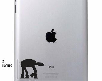 Black Star Wars Imperial Walker iPad Laptop Vinyl Decal Various Sizes