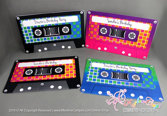 80s Invitation Cassette tapes Invitation Printable Retro