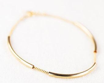 Ho'okele bracelet  - minimal gold bracelet, delicate gold bracelet, modern gold bracelet, layering bracelet, maui jewelry, hawaii jewelry