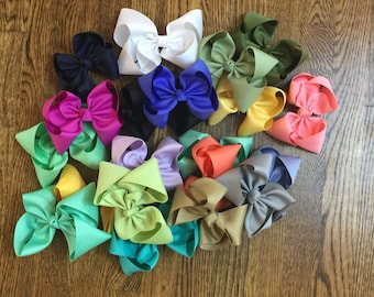 Need an Extra Single Layer Bow? You Pick Color, Size, & How Many!