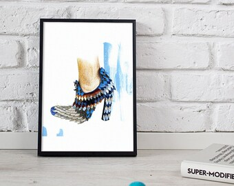 shoes print, fashion illustration, watercolor art - 2 sizes available giclee print