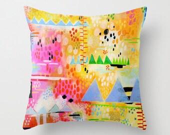 Abstract Landscape, Throw Pillow, Abstract Art Pillow, Art Pillow, Abstract Art Print, Colorful Decorative, Art Decor, Abstract Artwork