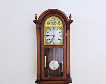 Vintage / Antique Daniel Dakota Tempus Fugit 31-Day Chiming Pendulum Wall Clock / Parlor Clock - Professionally Restored - with warranty