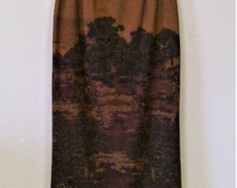 Vintage Talbot's Wool Equestrian Maxi Pencil Skirt - Size 6