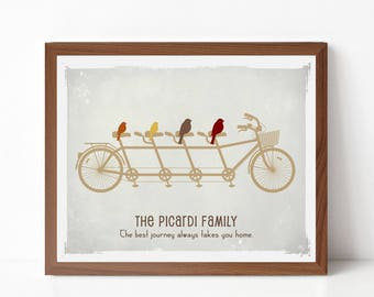 Bicycle Art Gift Print - Family Wall Art Print As Seen In Pregnancy and Newborn Magazine