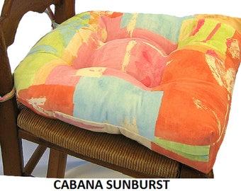 CABANA SUNBURST CHAIRPADS.  Set of 4