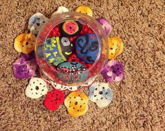 Bowl Of Painted Rocks